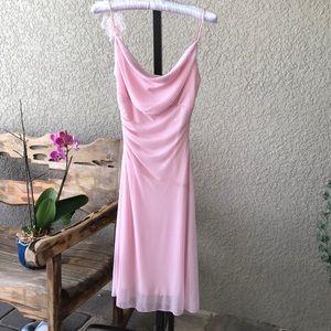 Pink spaghetti straps dress, size 3/4
